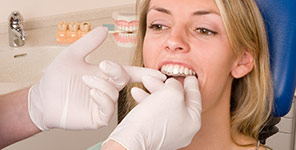 dental patient getting invisalign clear braces